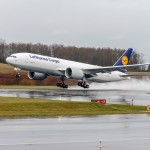Lufthansa 777F Functional Check Flight February 6, 2015 at Paine
